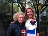Comedian Abi Roberts with Laura
