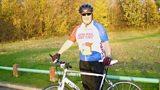 Steve Evans with his bike