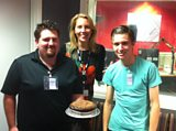Laura with JD and Chris with his chocolate and beetroot cake