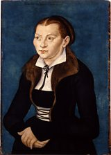 Portrait of Martin Luther's wife