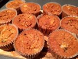 Melted Caramel Centred Spiced Apple Muffins