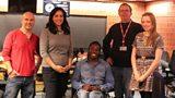 In studio today: Matt Potter, Aasmah Mir, Ade Adepitan, Rev. Richard Coles and Megan Knowles-Bacon