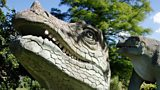 Iguanadon sculptures at Crystal Palace Park