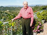 Ronald Neame at his Hollywood house in 2006