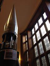 Skylark Rocket in Stairwell