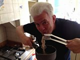 Ian McMillan samples the string he has boiled