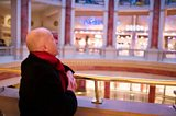 Michael looks into one of the Intu Trafford Centre's domes