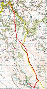 Capel-y-ffin to Hay-on-Wye: overview map