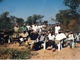 Eclipse watchers in Zambia, 2001