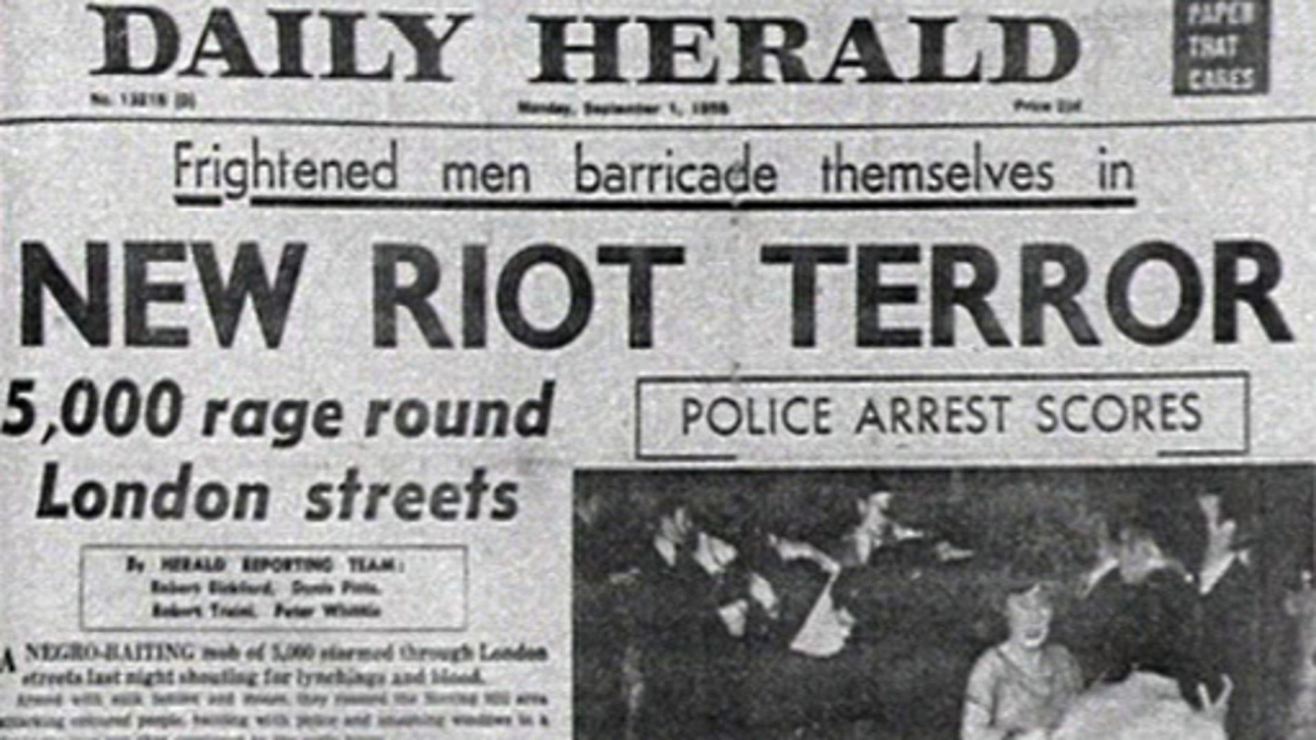 (Notting Hill race riots, via BBC)