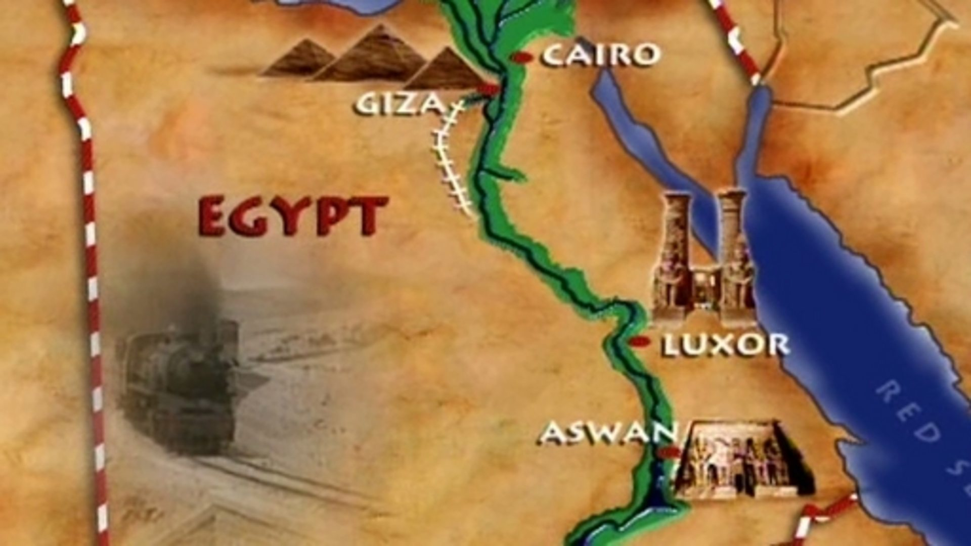 BBC Two Landmarks Ancient Egypt Time And Place How Do We Know - Map of ancient egypt for 6th grade