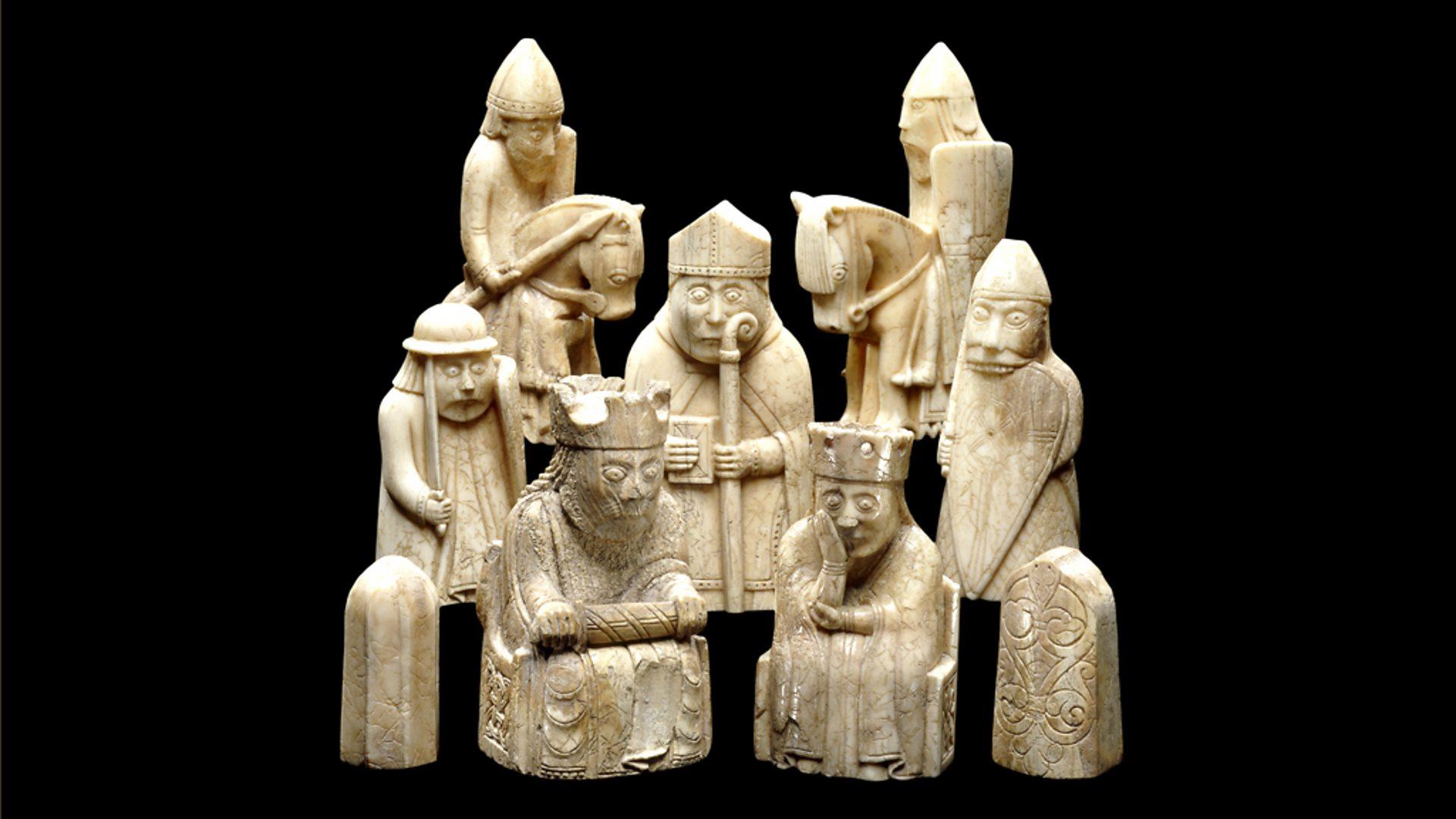 The Lewis Chessmen Porcelain Mug Bordspellen