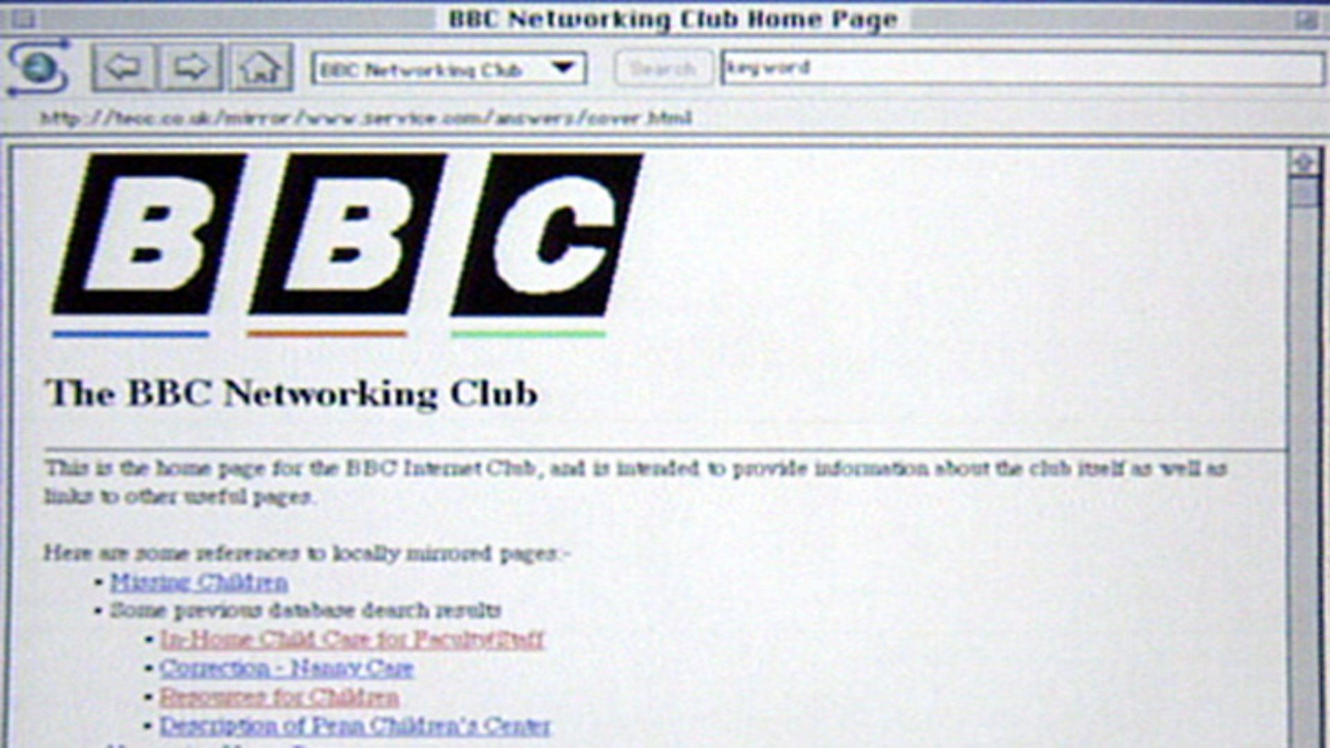 Launch of BBC Networking Club - History of the BBC