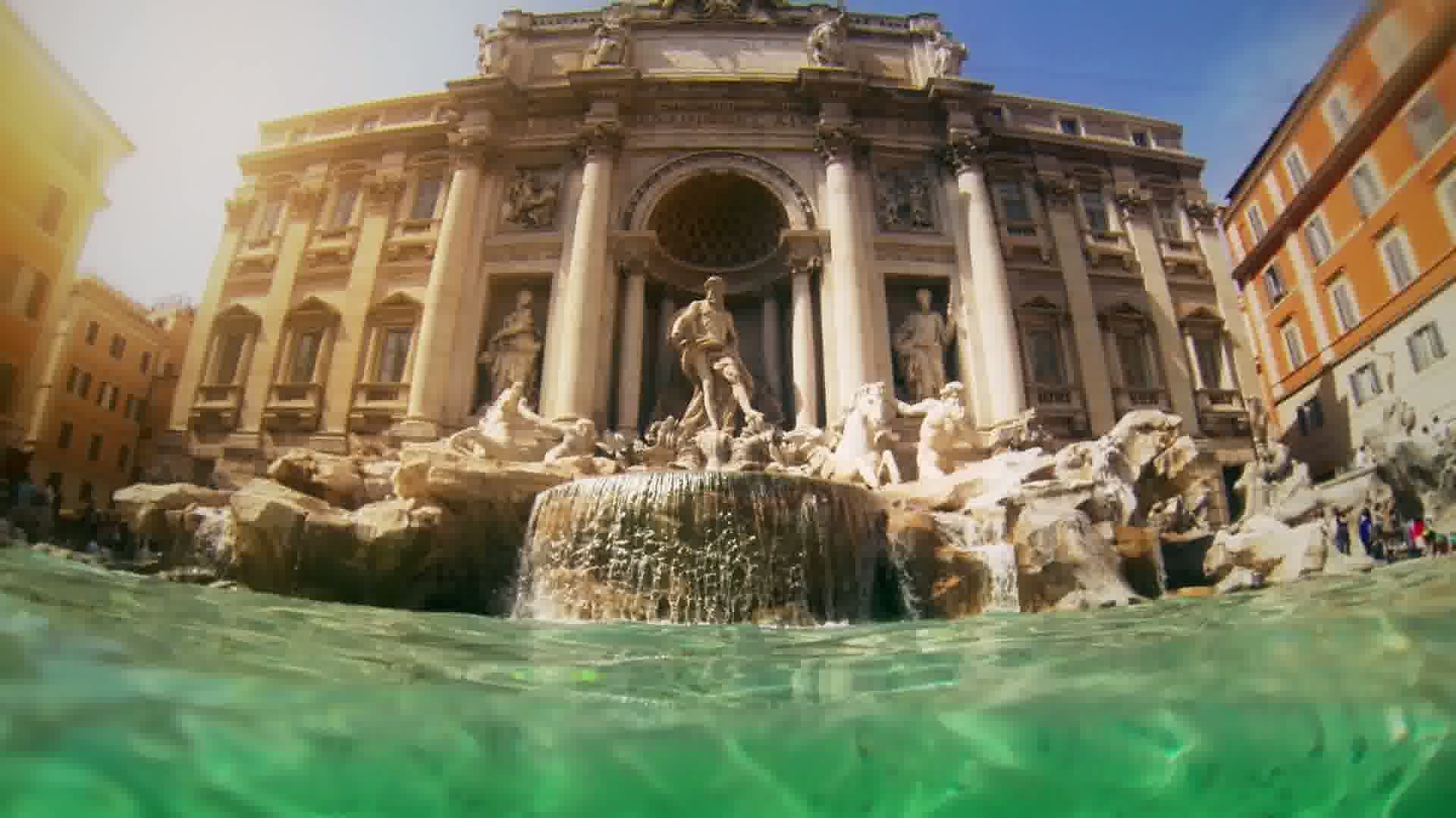 Trevi Fountain, Rome, Italy (Фонтан, Италия Рим) без смс
