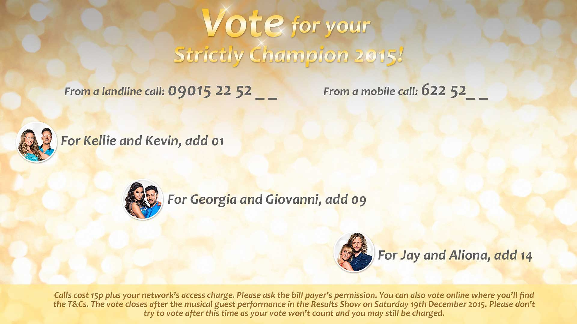 BBC One - Strictly Come Dancing - How to vote by phone