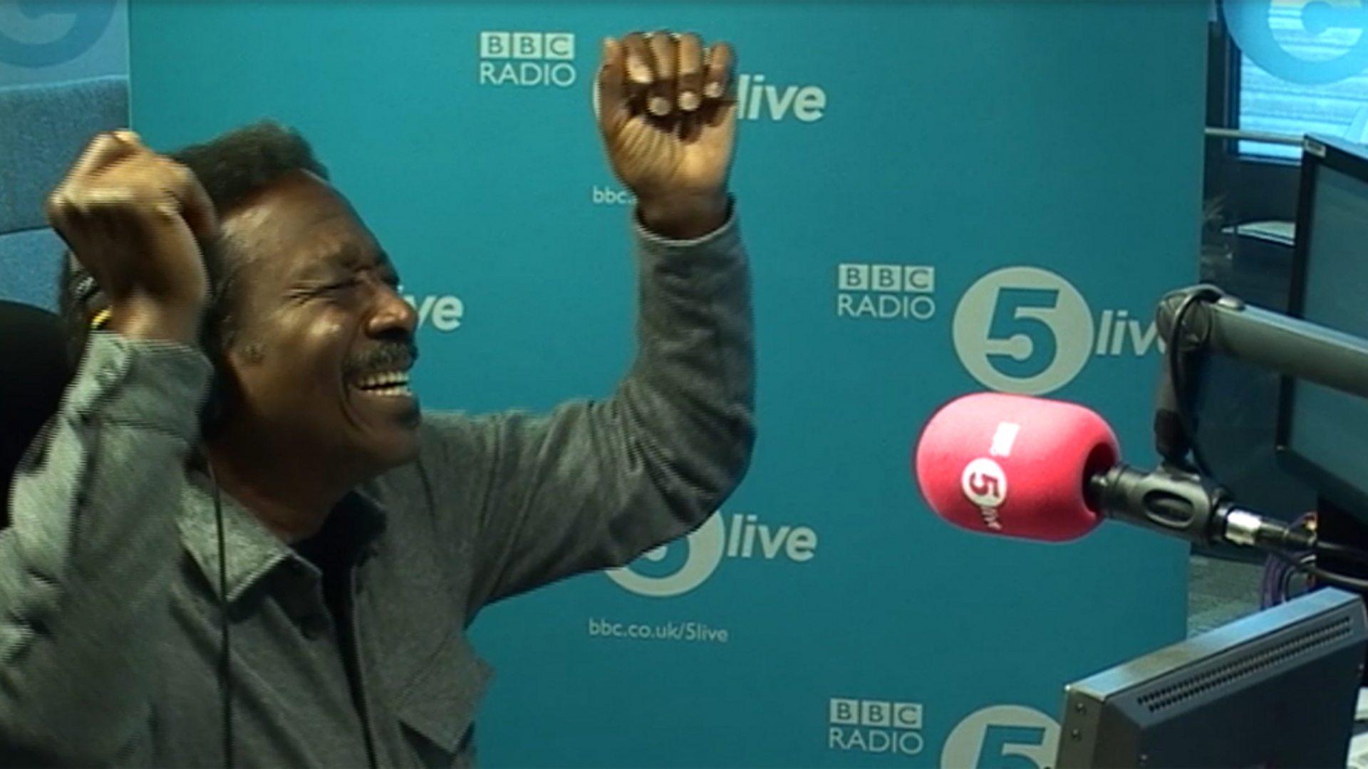 BBC Radio 5 live - In Short, Clarke Peters sings Boogie Nights