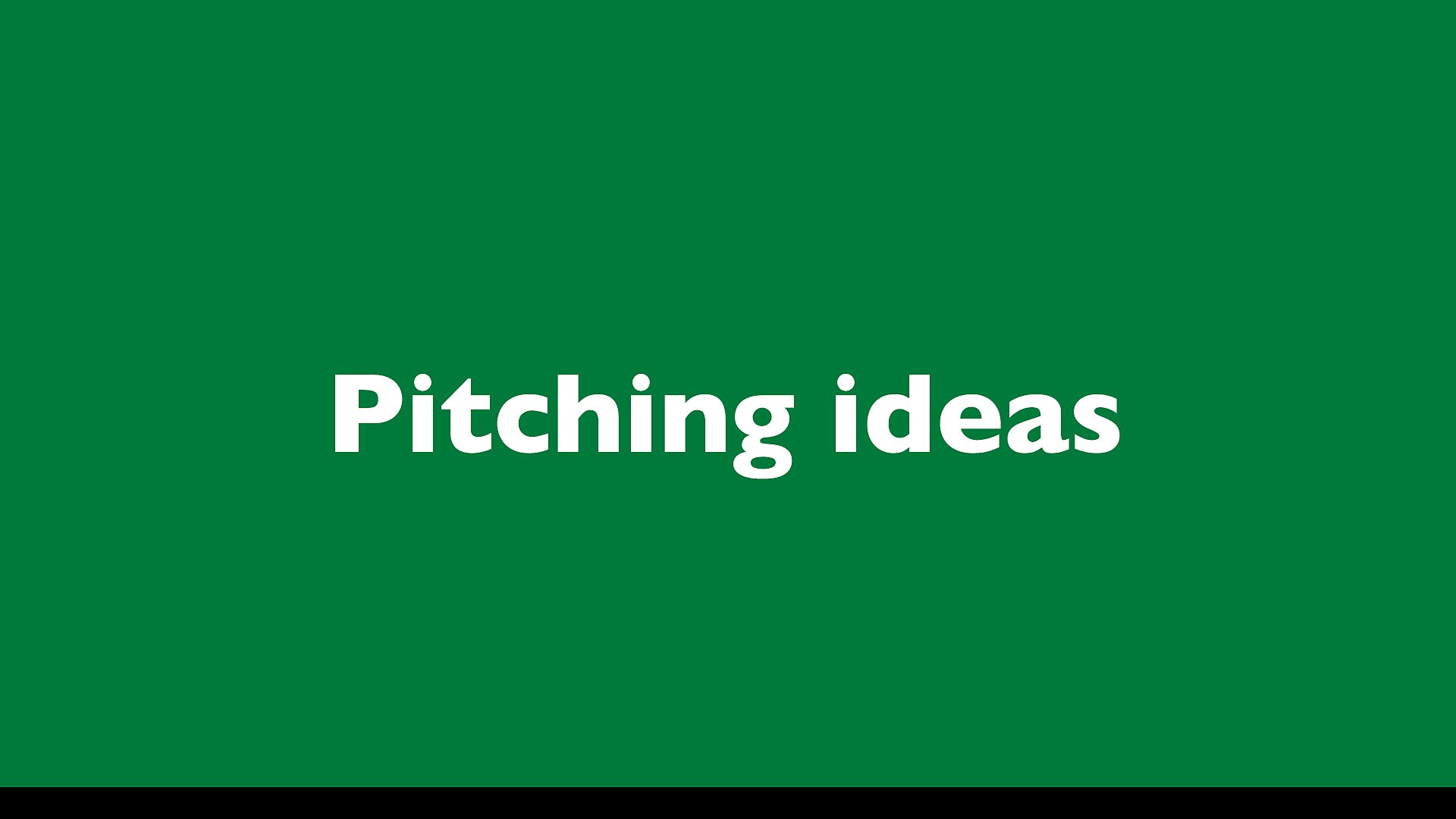 BBC Radio - Information for suppliers to Radio - Pitching ideas