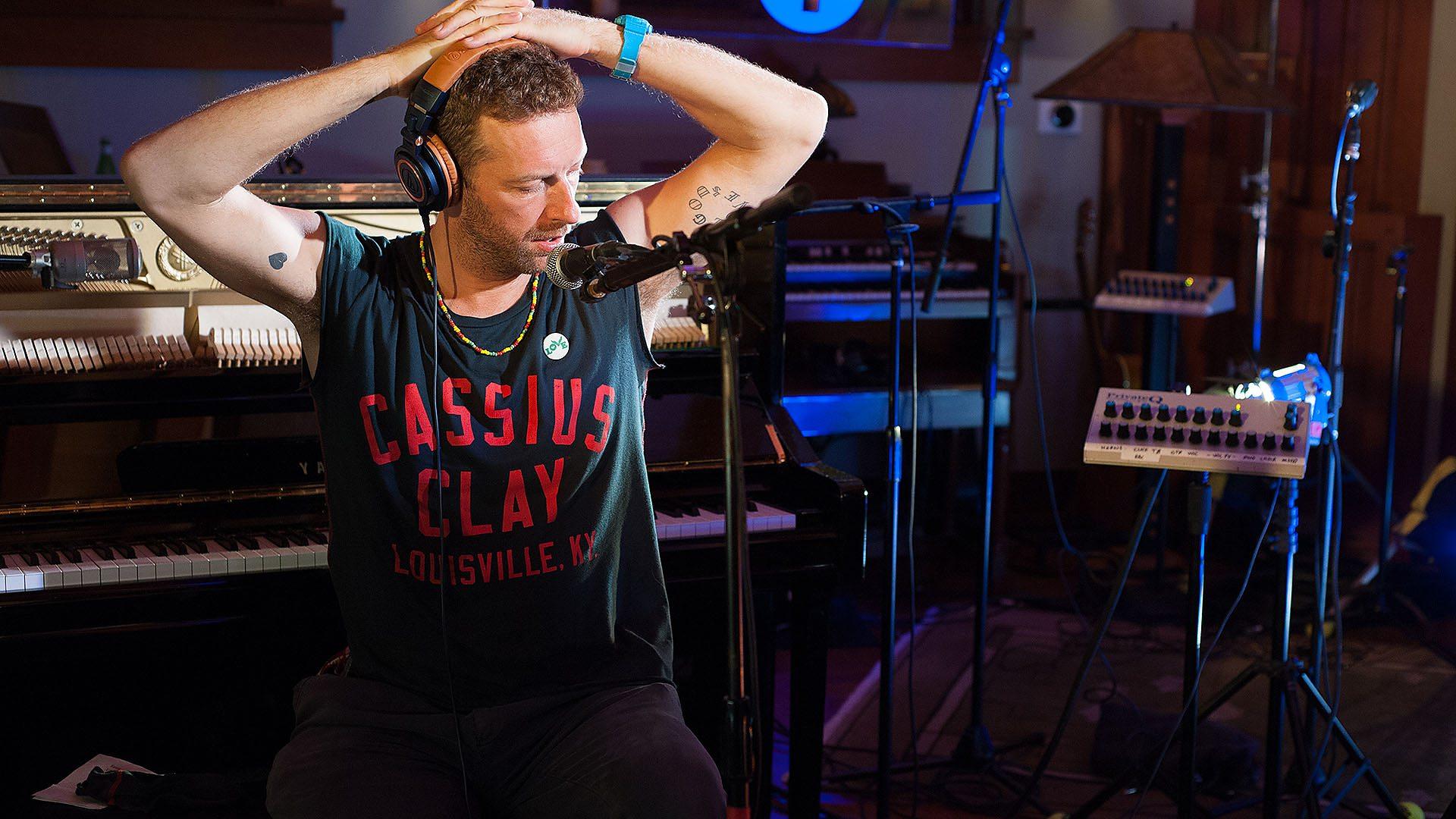 BBC Radio 1 - Live Lounge - Coldplay's Chris Martin performs