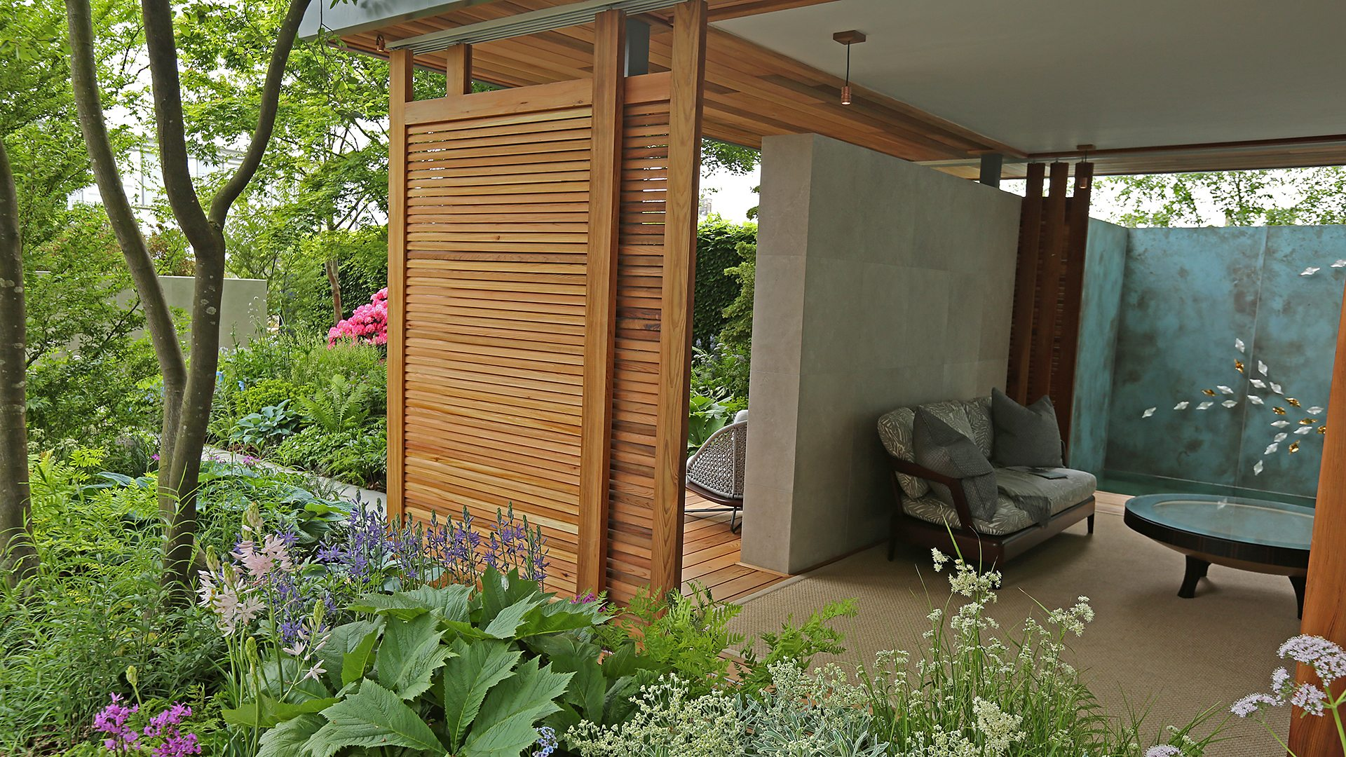 bbc two - rhs chelsea flower show - the morgan stanley garden for