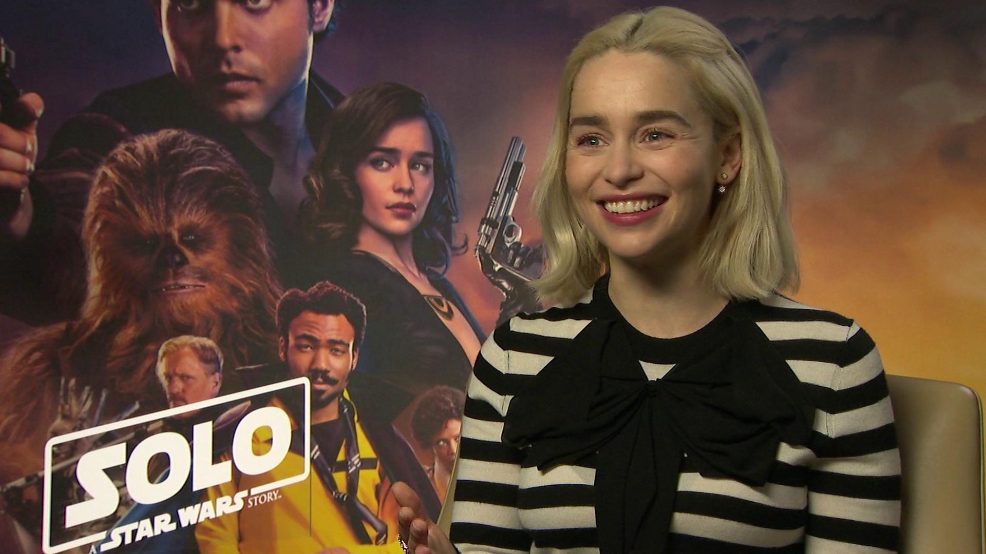 Star Wars Emilia Clarke Says Franchise Now Puts Women Front And Centre Bbc News