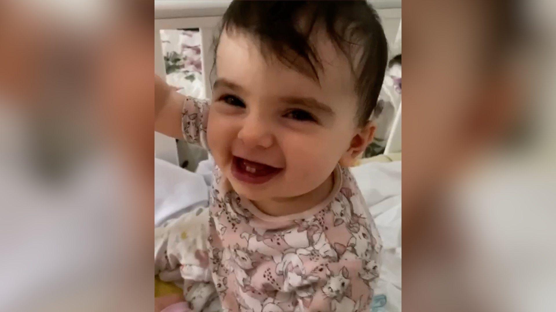Brittle bone disease toddler inspiring mum and dad - BBC News