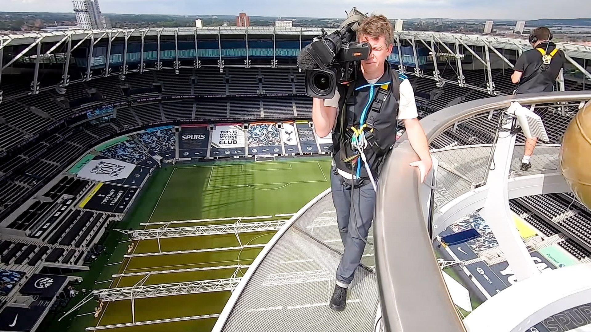 Reporters Experience Spurs Stadium Skywalk Bbc News