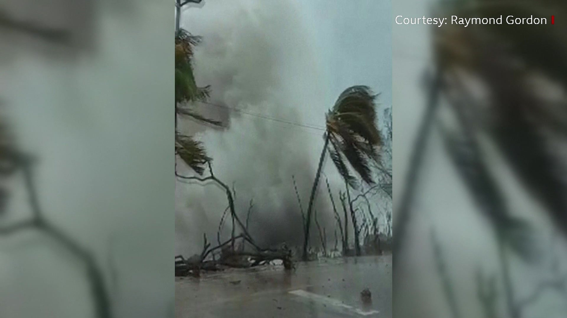 Hurricane Iota Giant Wave Smashes Into San Andres Shore Bbc News