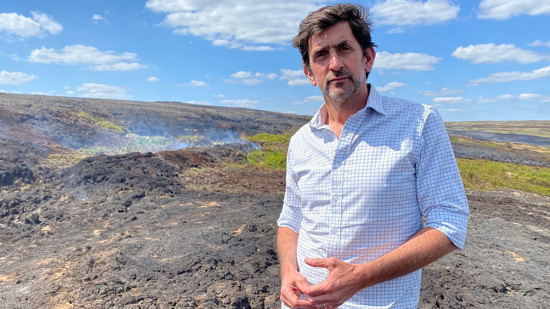 Photograph of environment reporter Justin Rowlatt