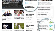 BBC Sport: Updated Cricket and Rugby Union beta pages based on your feedback