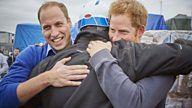 For DIY SOS, Princes William and Harry rolled up their sleeves and joined in the banter