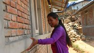 The inspiring young female construction worker helping reconstruct earthquake-hit villages in Nepal.