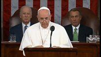 ローマ法王、初の米連邦議会演説