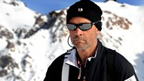The man who is crossing Antarctica unaided