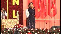 ミャンマー総選挙 スー・チー氏率いるNLDがヤンゴンで集会