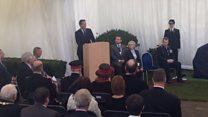 David Cameron unveils memorial for murdered Clacton policeman