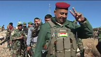 Kurdish forces enter IS-held town in Iraq