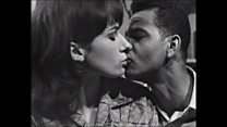 The first interracial kiss on TV
