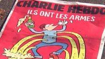 「あいつらには銃、我々にはシャンパン」 風刺紙シャルリー・エブド表紙に市民の反応は?