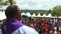 Uganda Catholic church mass