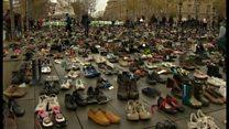 パリ慰霊碑の隣で衝突も COP21開幕