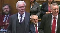 Watch: Tony Benn vs Hilary Benn on war