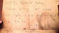 Santa letter from 1930s found up Welsh chimney