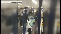 ロンドンの地下鉄刺傷 犯人取り押さえの現場