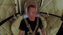 Tim Peake under pressure in centrifuge