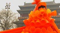 北京の大気汚染 現代芸術家も抗議に