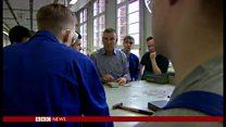 「仕事や家族、将来に見通し」 ドイツで仕事学ぶ移民