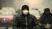 北京の大気汚染「赤色警報」 市民の声