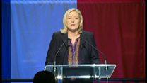 選挙敗北の仏「国民戦線」党首、政治システムは「瀕死」と