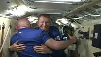 Tim Peake speaks to family from ISS