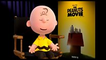 Charlie Brown and Snoopy on their latest film